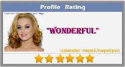 Create your profile rating