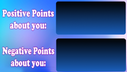 Find your positive and negative points
